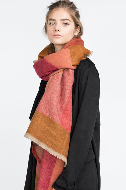 Checked Cashmere Fall Scarf