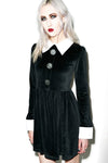 Velvet Collar Halloween Mini Dress