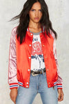 Pink and Orange Spliced Jacket