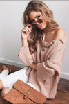 V-neck Bandage Sweater