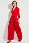 Bright Red Knot Casual Jumpsuit