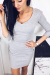 I Love It V-Neck Body-Con Dress
