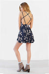 Spaghetti Strap Backless Mini Dress