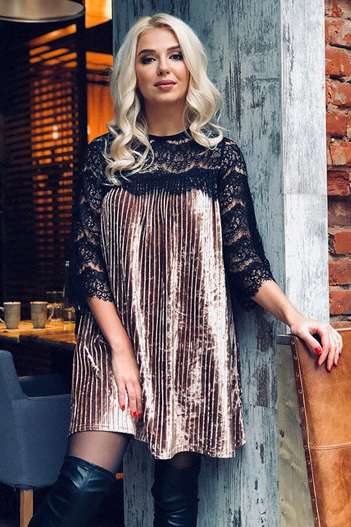 Remarkable Date Pleated Mini Dress