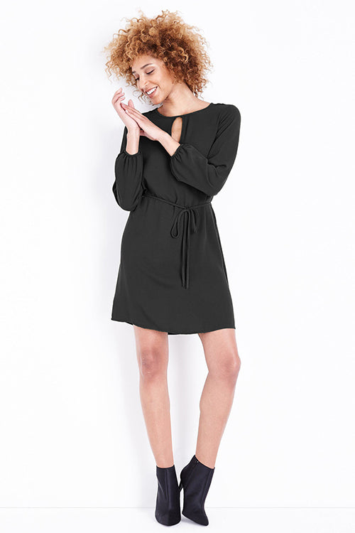 Source Of Joy Long Sleeve Tie Mini Dress