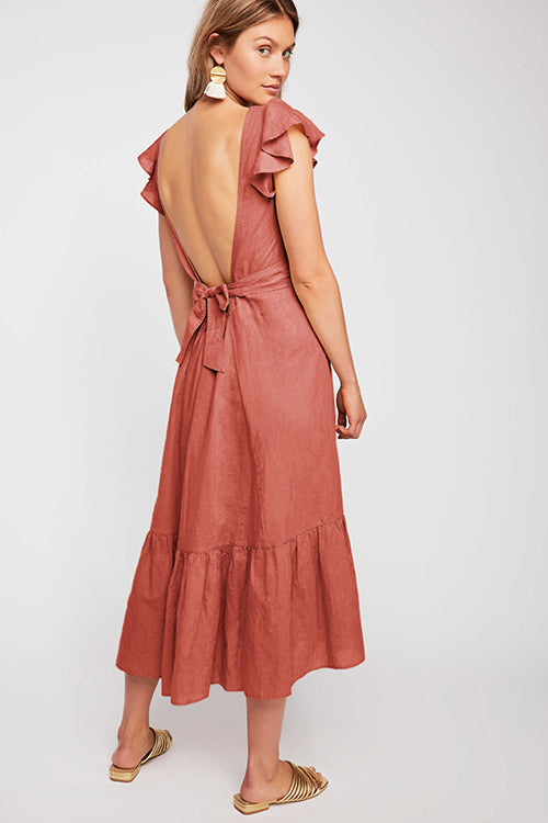 Secret to Sweetness Ruffle Midi Dress