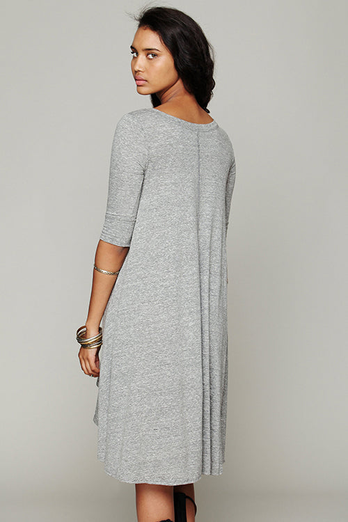 Casual Half Sleeve Irregular Hem Dress