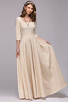 Court Style Half Sleeve Maxi Dress
