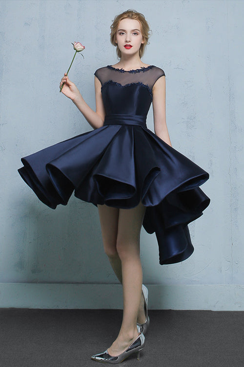 Dark Blue Fit&Flare Banquet Dress