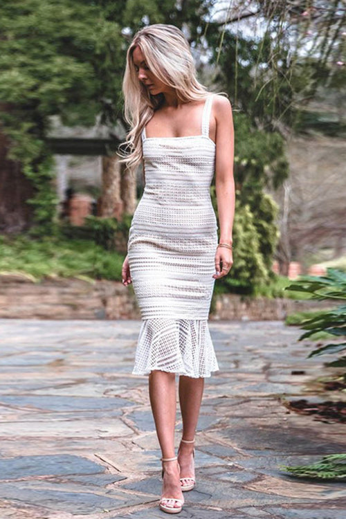 Elegant Instance Lace Body-Con Dress