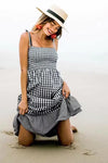 Black Checks Slip Dress
