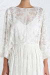 Cross Back Lace Romantic Dress