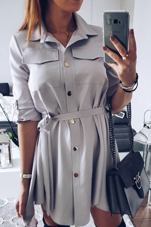 Steal Your Attention Tie Dress