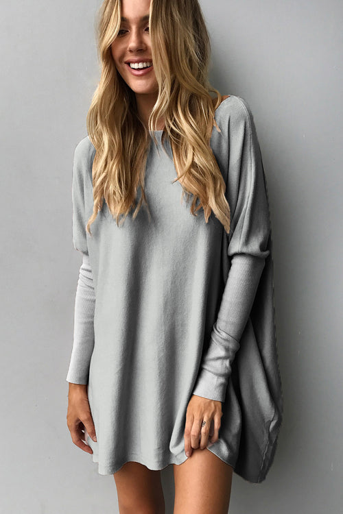 Oversize Pleated Sweater