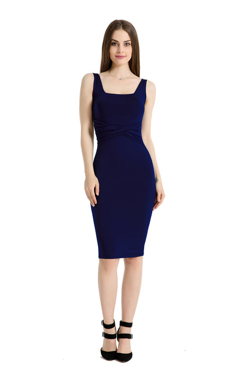 Sleeveless Slim Midi Dress
