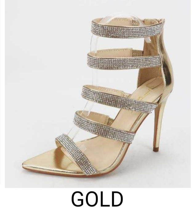 Gold/Sparkle party shoe