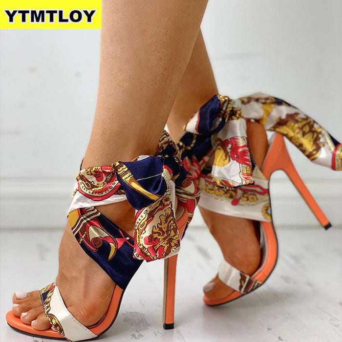 Ribbon Summer Luxury High Heels