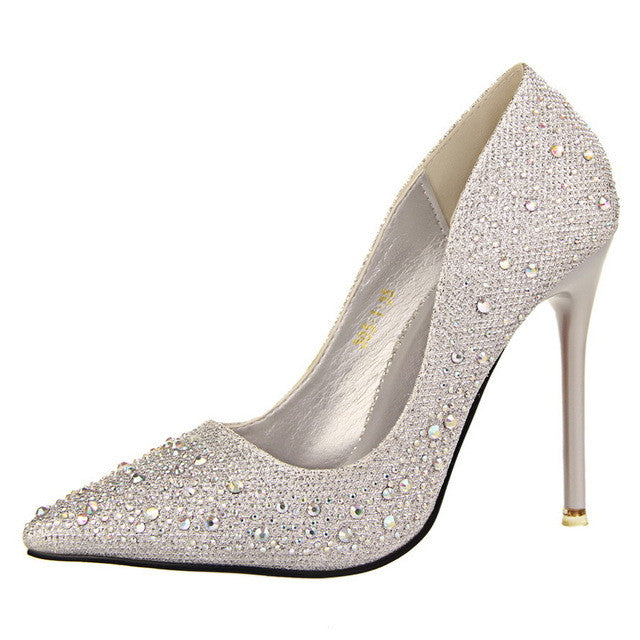 Crystal Studded Pumps.  Great for weddings