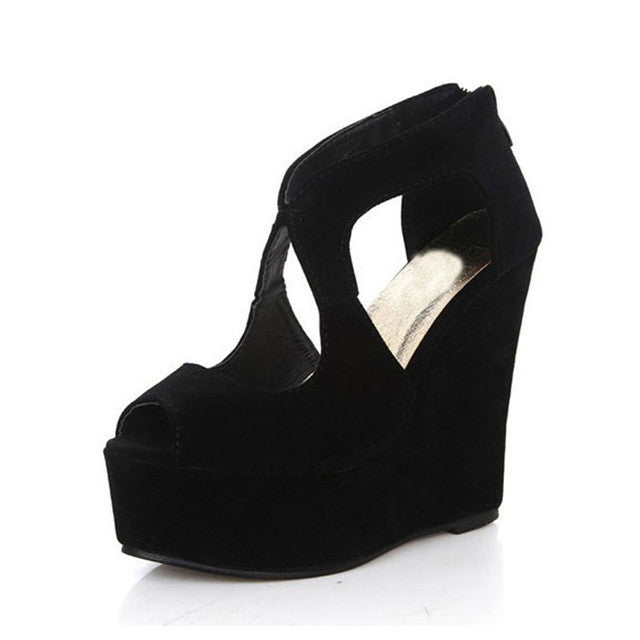 New Nightclub Woman Shoes.  Sexy European Open Toe High Heels.  Ladies Platform Wedge Shoes. Size 35-39