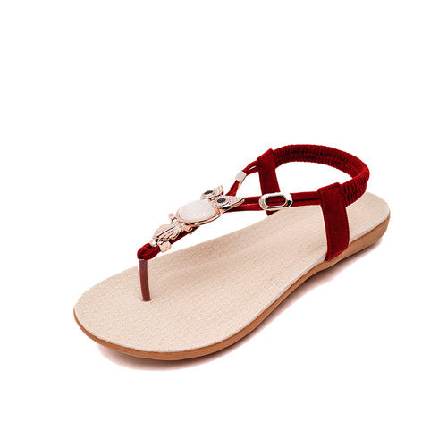New Fashion Women Sandal.  Bohemia Woman Shoes.  Comfort Beach Summer Flat Sandals.