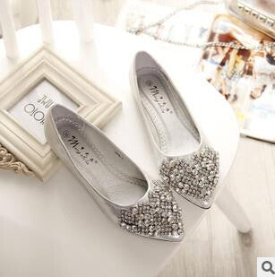 Flats. Women Ballet Princess Shoes With Crystals. Rhinestone Women Flats. PLUS Size