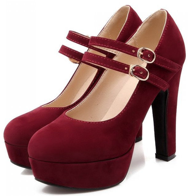 Women stiletto high heel shoes.