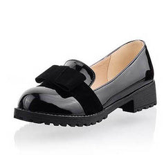 Round Toe Slip-on Women Loafers.   Fashion Bow /Patent Leather Women Flat Shoes /Ladies Casual Flats