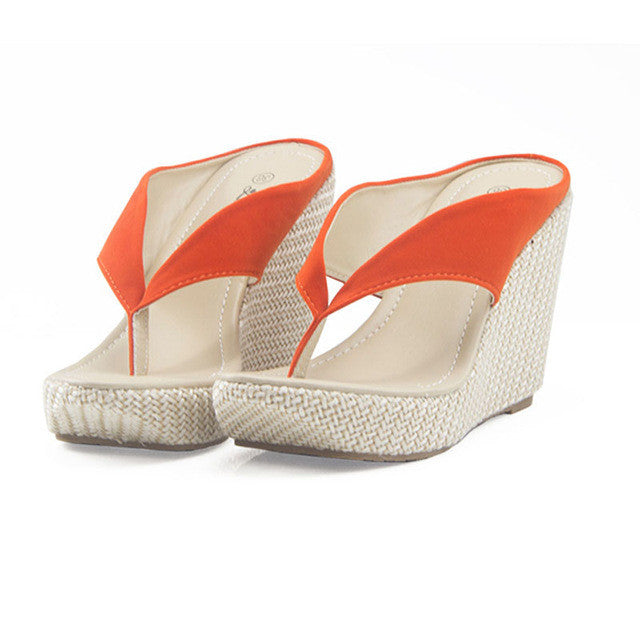 Hot Women Platform High Heels,  Wedge Slippers, Open Toe.  Ladies Casual Open Toe Summer Shoes,  Sandal