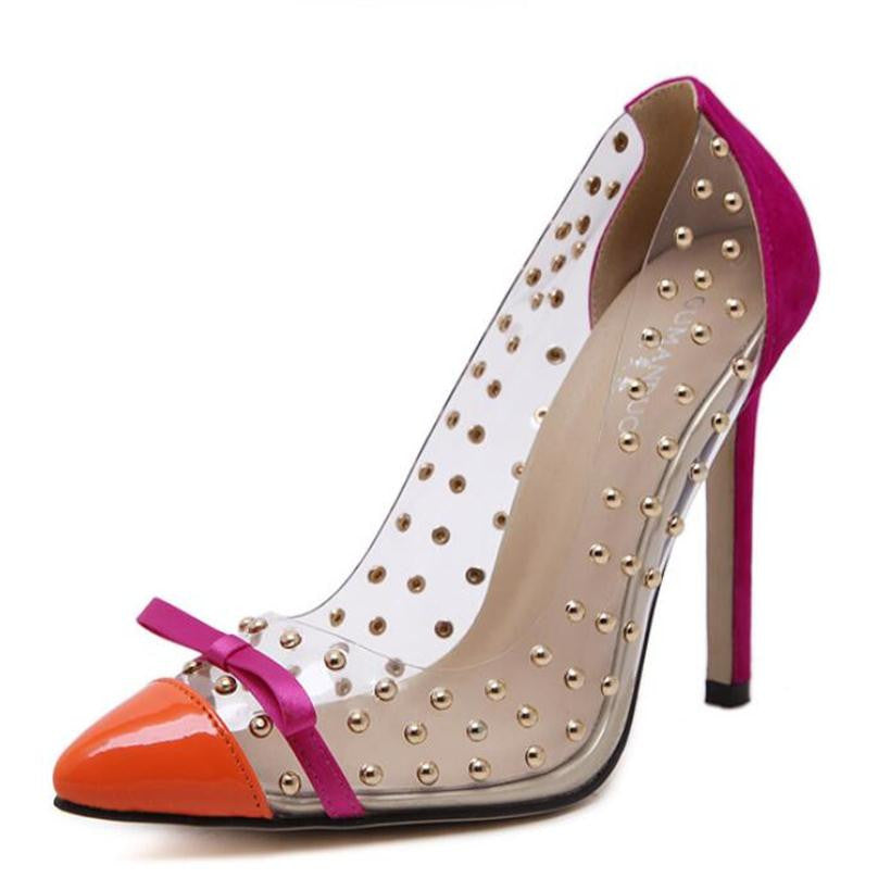 Rivets High Heels. The New Transparencies