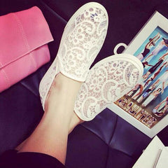 Women Flats Summer Lace Casual shoes Woman Sandals loafers Ladies Soft sole Shoes Slip on Ballet Flats