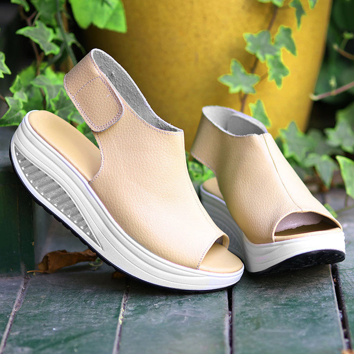 Summer Women Sandals. Peep Toe Swing Shoes Ladies Platform Wedges Sandals Woman