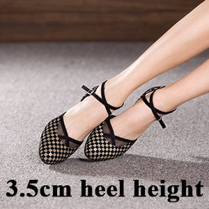 New Arrival Women Ladies Girls Ballroom Party Latin Tango Dance Shoes Indoor Salsa Shoes Heeled 3.5cm/5.5cm Dancing Shoes
