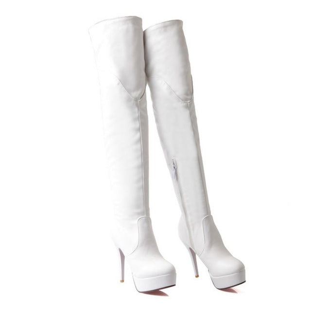 Women High Heel Over Knee Boots