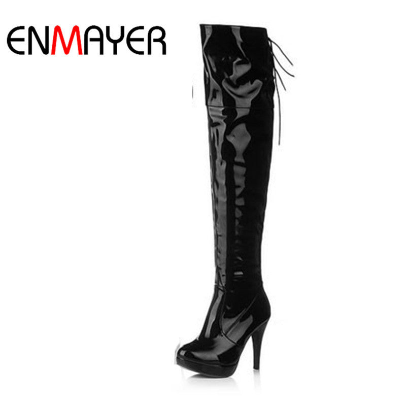 Lady Over Knee Boots Fashion Long Women Boots Winter Footwear High Heel Shoes Size 34-39 Shoes Woman Autumn Boots
