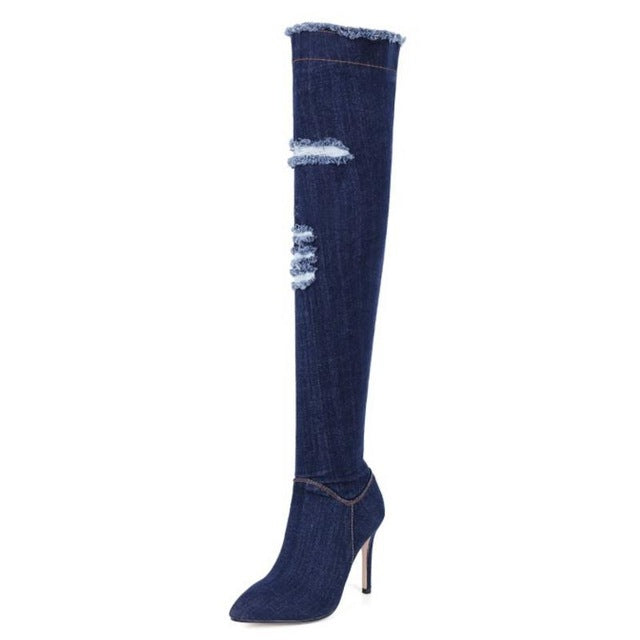 Women High Heel Boots Women Over Knee Boots