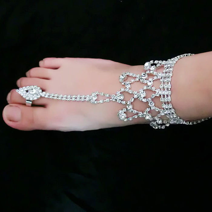 Stylish Women Barefoot Sandals.  Beach Foot Jewelry /Wedding Chain Anklet