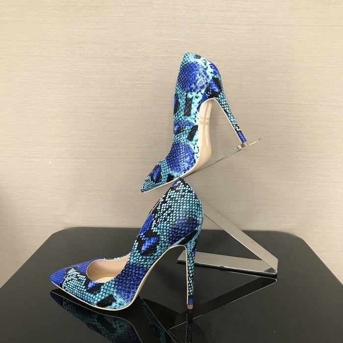 Ladies Pumps, Snake Printed