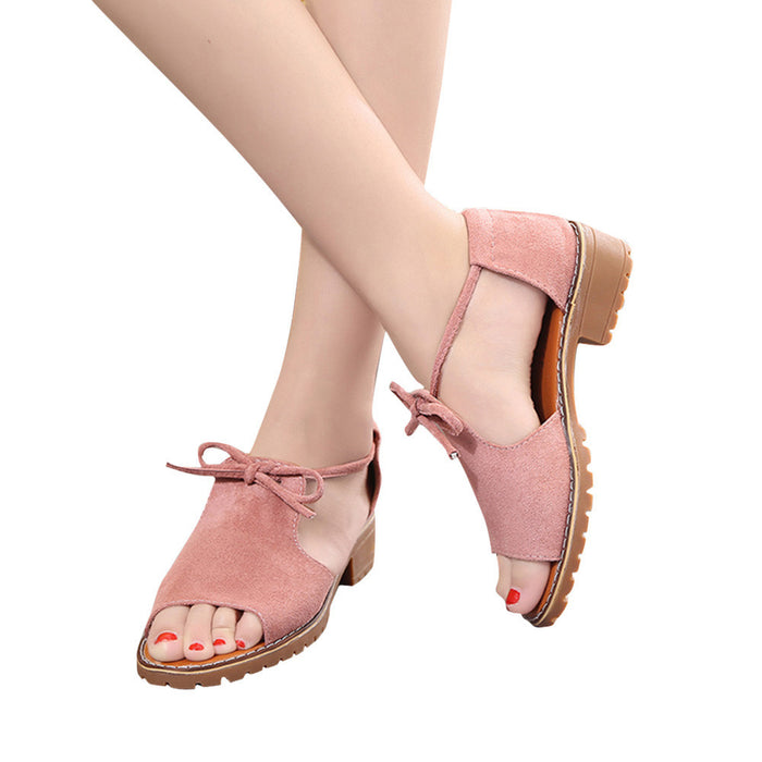 Women's Ladies Lace Up Espadrilles,  Summer Chunky Holiday Sandals Shoes