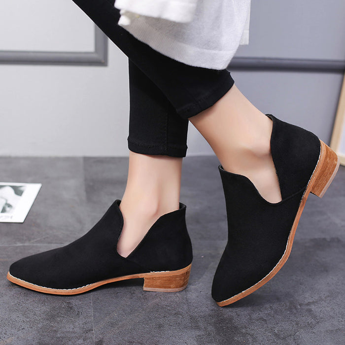 Women, Ladies,  Faux Solid Warm Boots.  Ankle Boots
