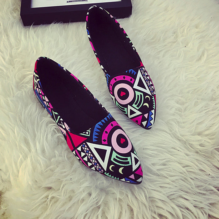Women Casual  Multicolor All Seasons Ballet Slip On Flats/ Loafers Shoes