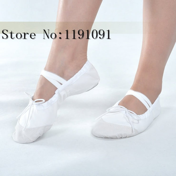 Color Womens Professional Soft Flats Peep Toes Ballet Dance Shoe Ladies Girls Belly Dancing Shoes