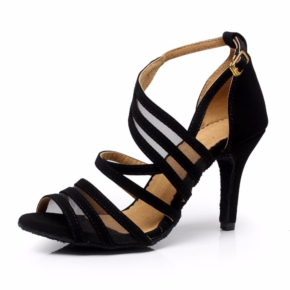 Women Ballroom Latin Dance Shoes /Black Salsa Shoes