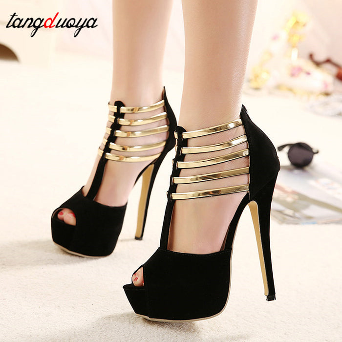 Women Shoes Platform Peep Toe