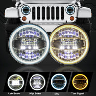 jeep wrangler halo headlights
