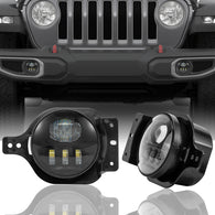 4 inch 5D LED Fog Lights For 2018-2020 Jeep Wrangler JL