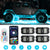 New Arrivals 4PC RGBW Rectangle LED Rock Lights Bluetooth & Remote Controller
