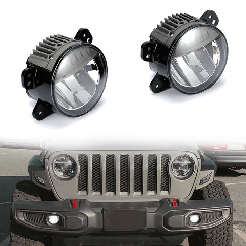 SUNPIE 2018 2019 Jeep Wrangler JL LED Fog Lights Driving Lights Pair