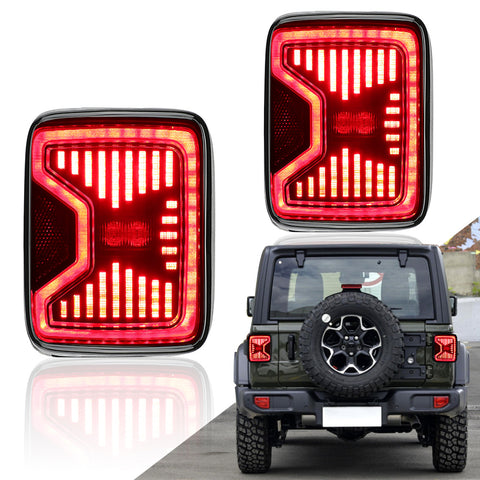 New Arrivals Smoked LED Tail Lights for 2018-2020 Jeep Wrangler JL JLU (Not JK)