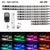 8 Pieces RGB LED Strip Lights for Motorcycle with Remote