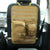 Universal Tactical Seat Cover with MOLLE Storage Bag & EDC Pouches (Black or Tan)